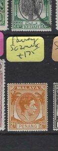 MALAYA  PENANG  (PP2901B)  KGVI  2C  SG 2   MNH