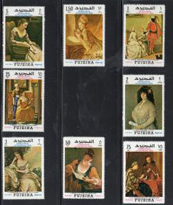 FUJEIRA 1968 PAINTINGS MI#276-83 SET OF 8   MINT  VF NH  O.G (F7)