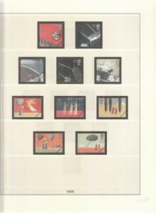 LINDNER LUXURY GB ALBUM PAGES YEARS 1995-1996