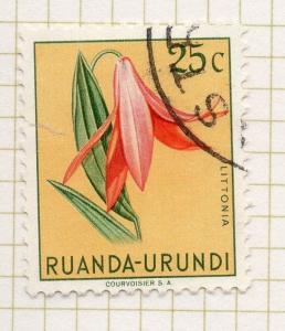 Rwanda 1953 Flowers Early Issue Fine Used Value 25c. 248018