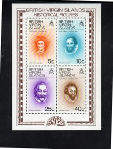VIRGIN ISLANDS #273a  1974  FAMOUS EXPLORERS        MINT VF NH O.G  S/S
