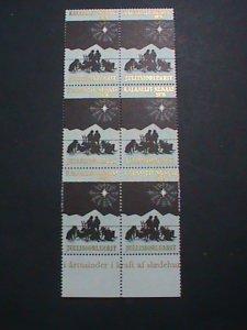 JULLISIORLUARIT STAMP-1976  RARE NORTH POLE  STAMP MNH BLOCK OF 6-EST.-$12 VF
