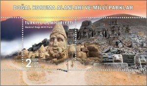 TURKEY / 2019 - NATIONAL PARKS-2 (Adiyaman, Antiques), MNH, Mi: 4540 (Block 193)