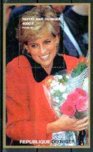 Niger Republic 1999 Princess Diana perf souvenir sheet (D...