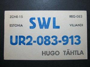 5714 Amateur Radio QSL Card Viljandi Estonia