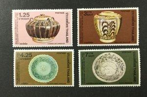 THAILAND #1004-1007, 1982 set of 4 VF MNH. Pottery. CV $4.20. (BJS)