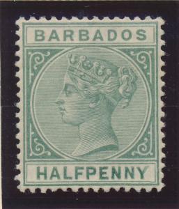 Barbados Stamp Scott #60, Mint Lightly Hinged - Free U.S. Shipping, Free Worl...