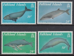 Falkland Islands 501-4 Whales mnh