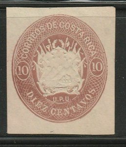 Costa Rica Postal Stationery Cut Out A17P5F837