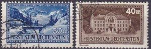 Liechtenstein  #122, 124  F-VF Used   CV $9.00 (Z3166)