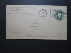 Canada 1929 2c Postal Stationery Cover to USA - Z10586