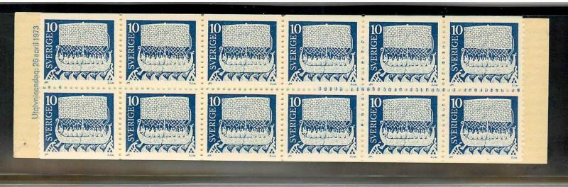 Sweden 962a Mint VF NH booklet pane of 20