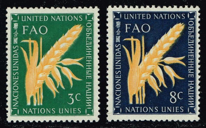 UN New York #23-24 Food and Agriculture Set; MNH (1.30)