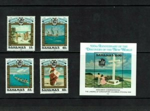 Bahamas: 1992, 500th Anniv. Columbus Discovery of New World (5th series) MNH set