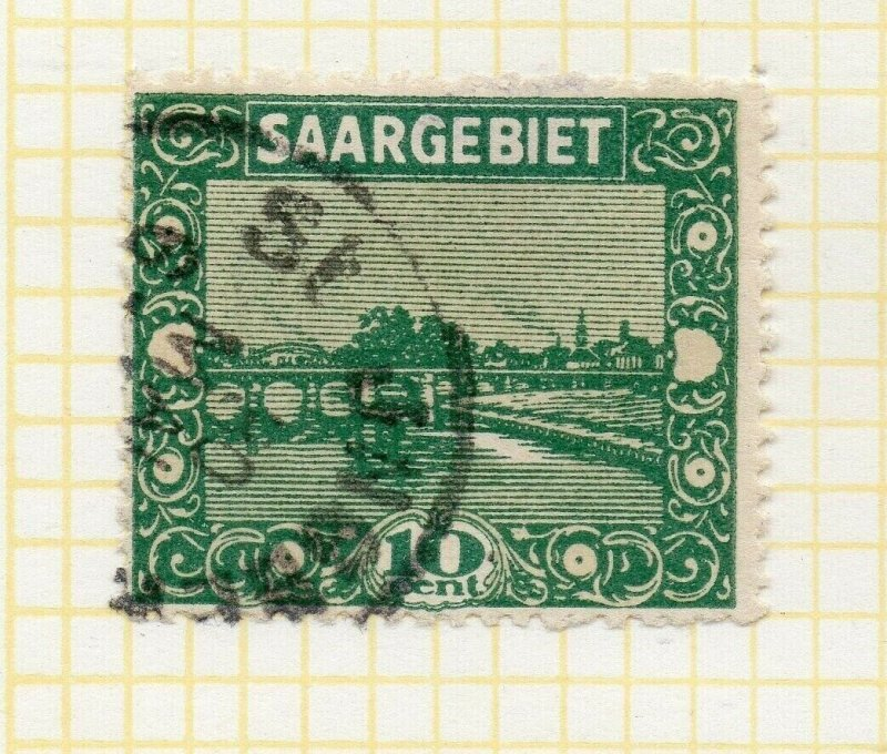 Saar 1922 Early Issue Fine Used 10c. NW-103358