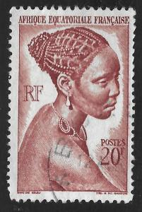 French Equatorial Africa #183 20fr Young Bacongo Woman