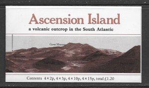 Ascension 282a cpl booklet MNH, f-vf, see desc. 2020 CV$ 16.00