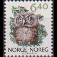 NORWAY 1991 - Scott# 959 Owl 6.4k NH