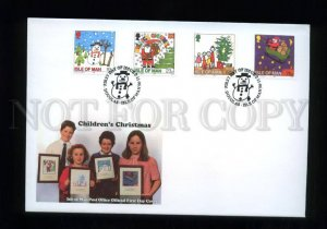 161447 ISLE OF MAN 1996 Children's Christmas FDC cover