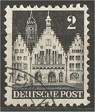 GERMANY, 1948, used 2pf, Frankfurt Scott 634