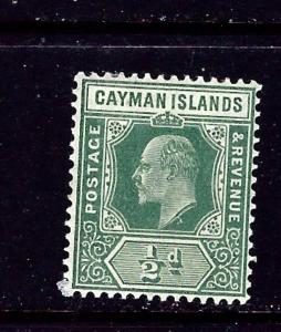 Cayman Is 21 MH 1907 issue