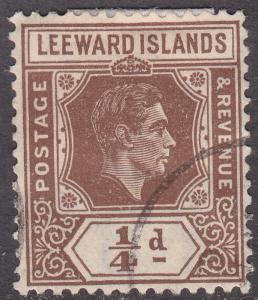 Leeward Islands 103 Hinged Used 1938 King George VI