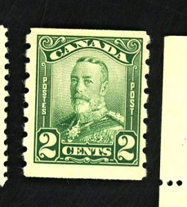 Canada #161 MINT F-VF OG HR Cat $40