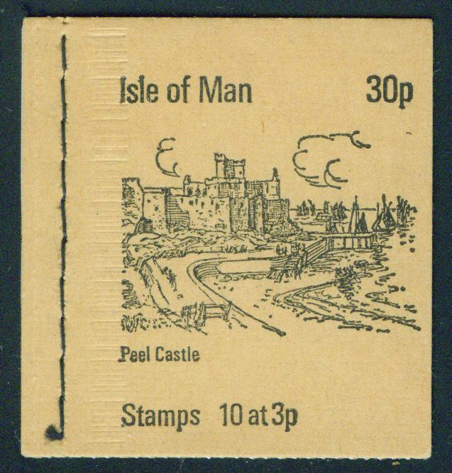 Isle of Man 30p sewn Booklet Scott 5(17a) panes 1973 CV$3.50