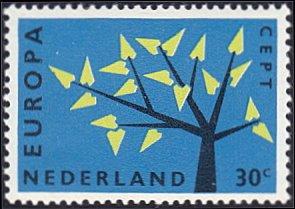 Netherlands # 395 mnh ~ 30¢ Europa - Tree