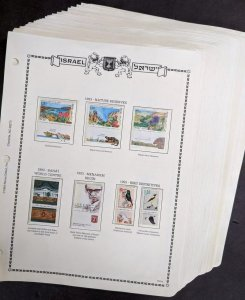 EDW1949SELL : ISRAEL Collection of all VF MNH Tabs looking almost Cplt 1986-1993