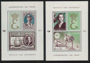 Belgium Queen Elisabeth Music Medicine 2 MSs 1966 MH SG#MS1962