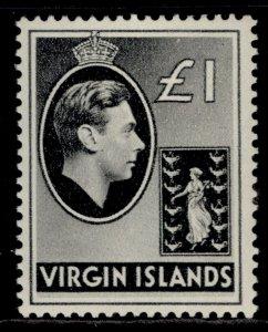BRITISH VIRGIN ISLANDS GVI SG121, £1 black, M MINT. Cat £11.