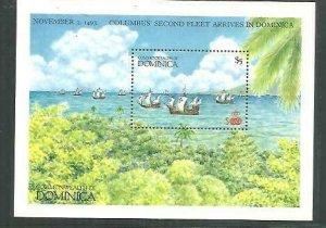 Dominica Ships S/S Scott 1037 MNH