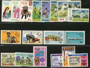 FIJI Sc#337-356 1973-1974 QEII Six Complete Commem Sets Mint OG LH