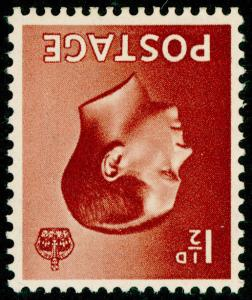 SG459Wi, 1½d red-brown, M MINT. WMK INV