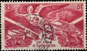 A.E.F. - 1946 - Yv.PA43/Mi.255 8fr carmin  Anniversaire de la Victoire - Obl. TB