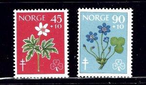 Norway B62-63 MNH 1960 Flowers    (ap1441)