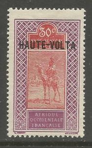 BURKINA FASO  15  MINT HINGED,  STAMP TYPES OF UPPER SENEGAL OVPT IN BLK