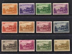 STAMP STATION PERTH Norfolk Island #1-12 Ball Bay Definitive Set MLH - CV$15.00