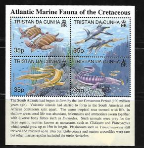 TRISTAN DA CUNHA, 592, MNH, ATLANTIC MARINE CREATURES