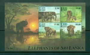 Sri Lanka - Sc# 1223a. 1998 Elephants. MNH Souvenir Sheet. $9.00.