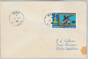 62315  -  ST LUCIA - POSTAL HISTORY -   COVER 1981: MARC