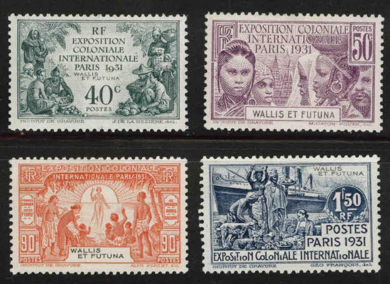 Wallis and Futuna Islands Scott 85-88 MH**1931 Colonial Expo set