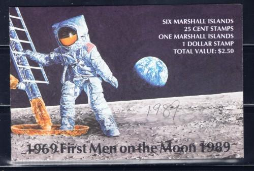 Marshall Is 238a NH 1989 20th Anniv of First Moon Landing Booklet