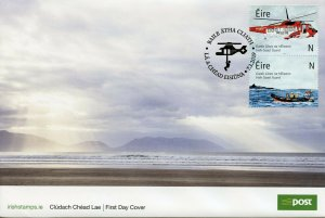 Ireland 2019 FDC Irish Coast Guard 2v Cover Helicopters Boats Aviation Stamps