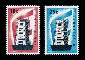 NETHERLANDS #368-369 EUROPA SET 1956 MNH-OG