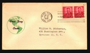 Canal Zone SC# 137 FDC / Pair / Cacheted / Left Creasing - L1590