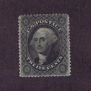 SC# 36B UNUSED OG PH 12c WASHINGTON, 1857, PLATE III, PF CERT, VF