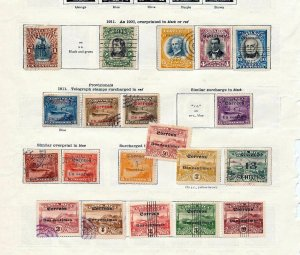 COSTA RICA 1911/30s M&U Collection On Ideal Pages (Appx 80+Items )BT76