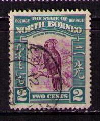 NORTH BORNEO Sc# 194 USED FVF Palm Cockatoo Bird